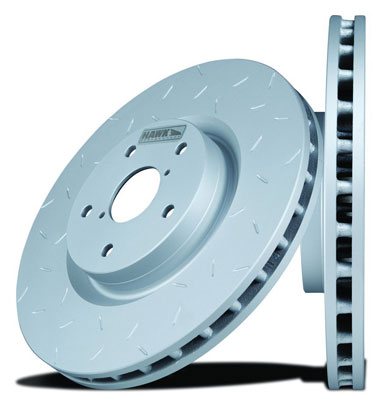 4. Hawk Performance HUS732 Quiet Slot Brake Rotor