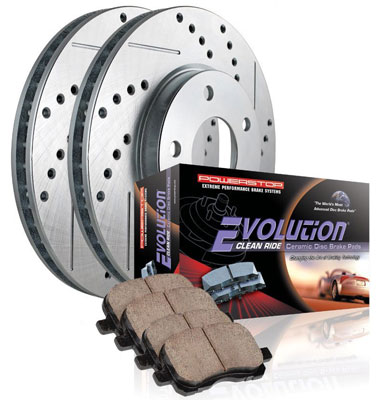 3. One-Click Ceramic Front Rotor Brake Kit by Power Stop