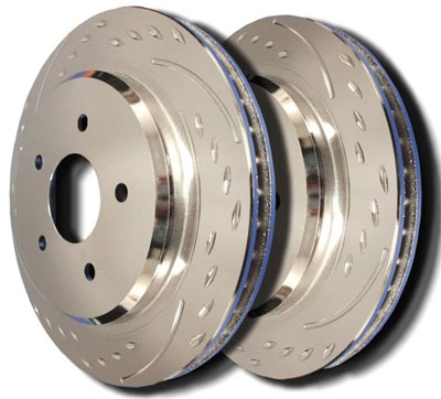 7. Dodge Charger Specific Model Rear Diamond Slot Brake Rotors