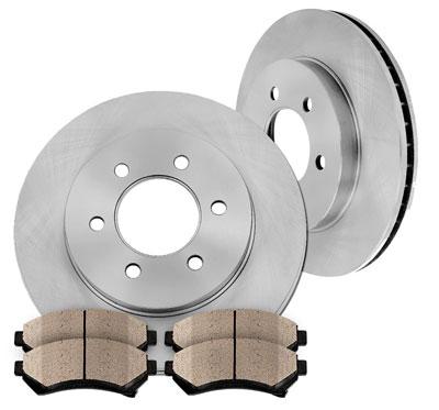 5. Callahan CFP40242B Front Premium Grade Rotors and Ceramic Brake Pads Kit