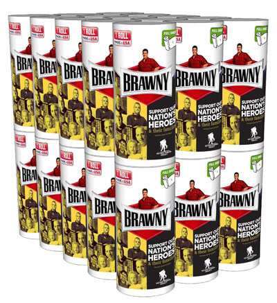 10. Brawny Individually Wrapped Regular Paper Towel Rolls