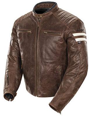 6. Joe Rocket Mens Classic '92 Leather Motorcycle Jacket Brown/Cream Xlarge