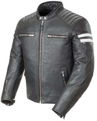 1. Joe Rocket Classic '92 Men's Leather Motorcycle Jacket (Black/White, Medium)