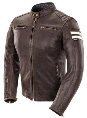 10. Joe Rocket Classic '92 Women's Leather Motorcycle Jacket (Brown/Cream, Large), Best Brown Leather Motorcycle Jacket