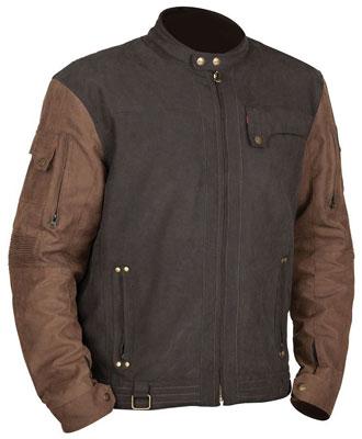 9. STREET & STEEL Iron Age Leather Motorcycle Jacket - 2XL, Brown/Black