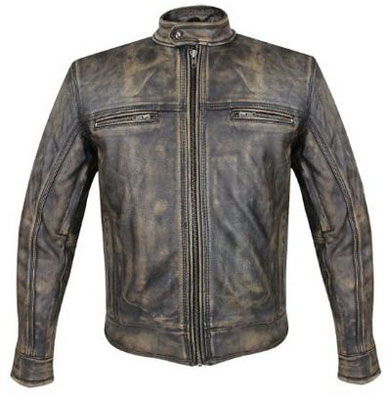 7. Xelement XS-1550- Mens Venture Armored Leather Motorcycle Jacket