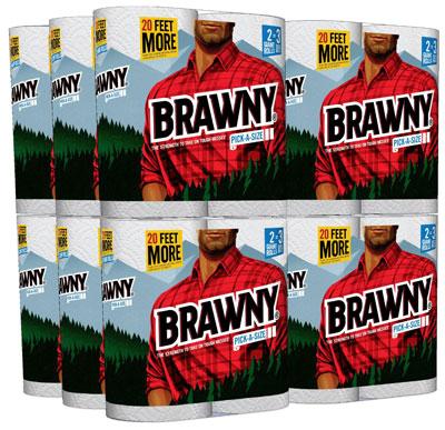 3. Brawny Pick A Size 24 Giant Roll Paper Towel