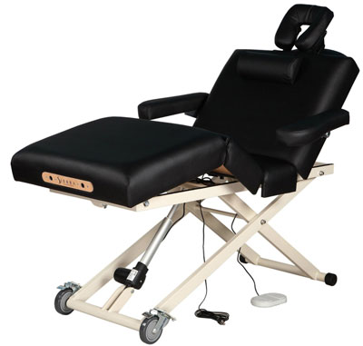 8.Sierra Comfort Adjustable 4-Section Electric Lift Massage Table, Black