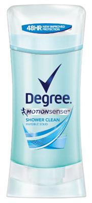 5. Degree Motion sense Antiperspirant and deodorant