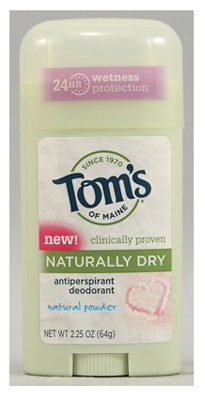10. Tom's of Maine Women's Antiperspirant Deodorant Natural Powder