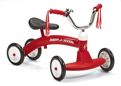 2. Radio Flyer 20 Scoot-About Tricycle