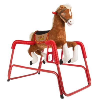 5. Rockin' Rider Lucky Talking Plush Spring Horse