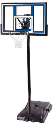 6. Aosom Height Adjustable Portable Youth Basketball Hoop System - Black/Orange