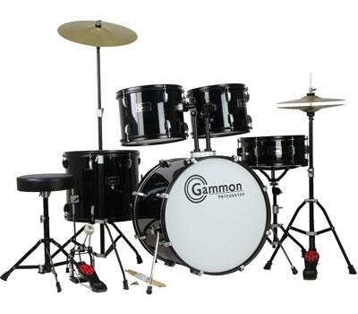 9. New Drum Set Black five-Piece Complete Full Size