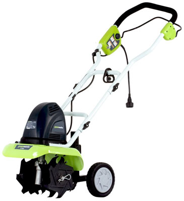 2. Green-Works 27012 8 AMP Corded AC Cultivator
