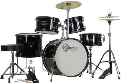5. Complete 5-Piece Black Junior Drum Set