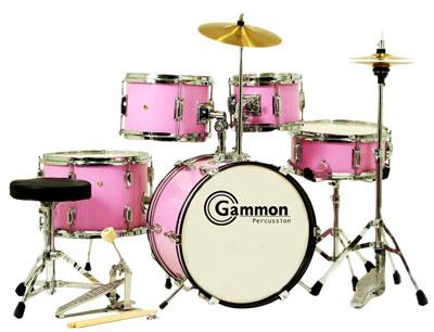 4. Pink Junior 5-Piece Drum Set