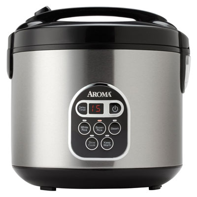 1. Aroma 20-Cup (Cooked) (10 Cup UNCOOKED) Digital Rice Cooker and Food Steamer, Stainless Steel Exterior (ARC-150SB), Top 10 Best Food Steamer 2020 Reviews, Top 10 Best Food Steamers 2020 Reviews