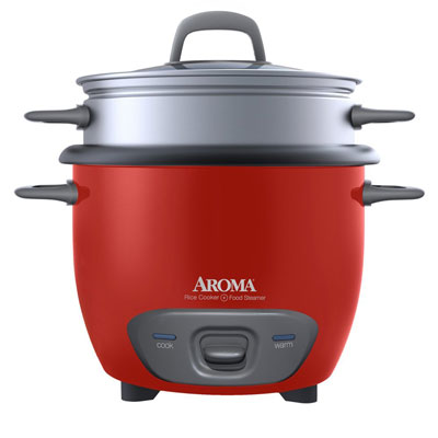 8. Aroma 6 -Cup (Cooked) Po Cooker Style Rice Cooker and Food Steamer(ARC -743-1NGR)
