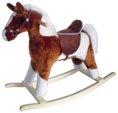 1. Plush Rocking Horse with Realistic Sounds for Toddlers, Top 10 Best Rocking Horses For Toddlers Reviews