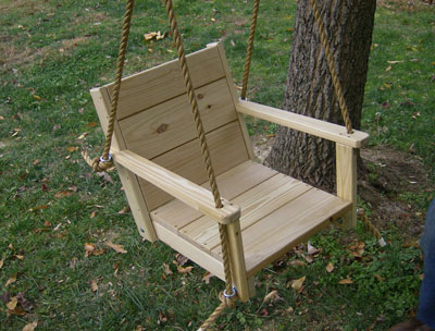 10. Adult Wood Chair Swing