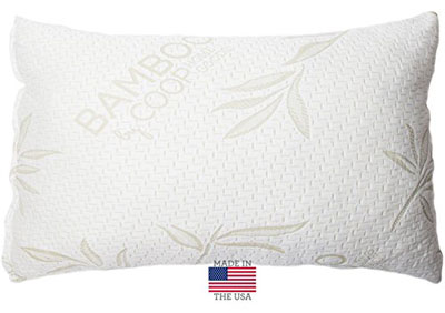 6.Shredded Memory Foam Pillow with Bamboo Cover
