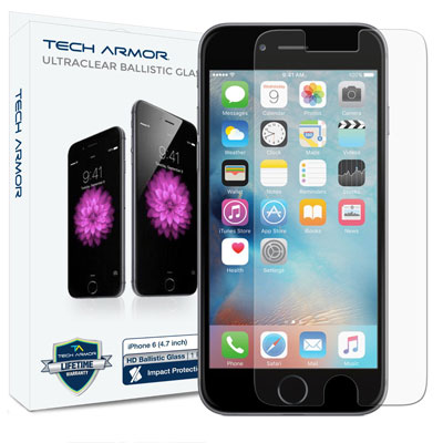 7. Tech Armor Apple iPhone 6 (4.7 inch ONLY) HD Clear Ballistic Glass – Maximize
