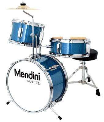 8. Mendini by Cecilio MJDS-1-BL 3-Piece Drum Set