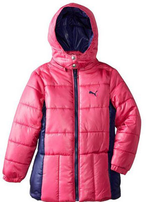 2. PUMA Girls' Puffer Jacket