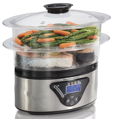 4. Hamilton Beach Digital Steamer-5.5 Quart (37530A)