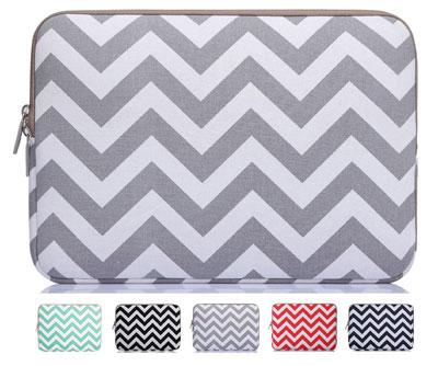 7. Cevron Gray Fabric Sleeve Case Bag Cover