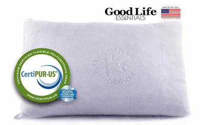 3.Shredded Memory Foam Pillow with Stay Cool Bamboo Cover