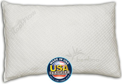 10.Snuggle-Pedic Queen Size Ultra-Luxury Bamboo Shredded Memory Foam Pillow Combination