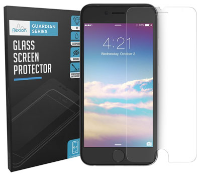 3. Flexion 4.7-Inch HD Clear Ballistic Glass Screen Protector for iPhone 6 and 6S