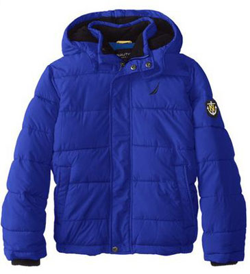 7. Nautica Big Boys' Short Bubble Jacket, Top 10 Best Winter Coats For Kids Reviews