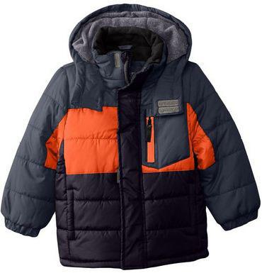 6. Little Boys' Color Block Puffer Coat