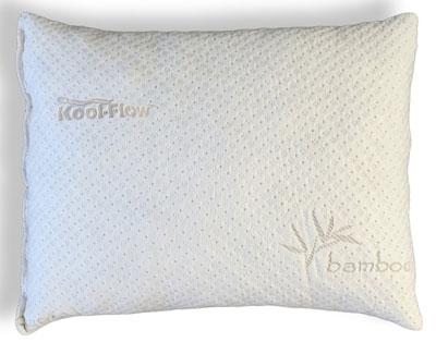5.Slim Sleeper Shredded Memory Foam Pillow With Kool-Flow™ Micro-Vented Bamboo Cover
