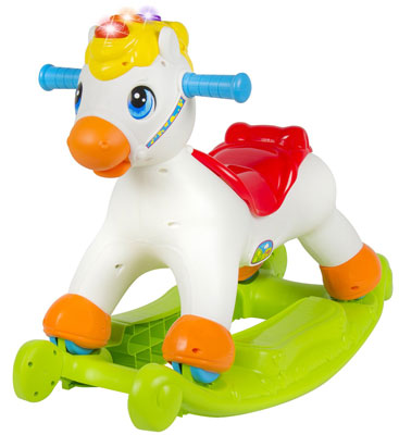 6. Best Choice Products Musical Educational Rocking Horse