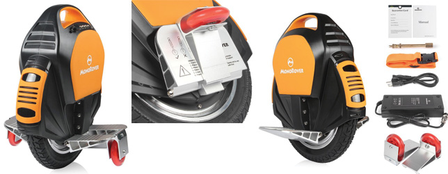 MonoRover R1 132Wh Single wheel Self Balancing Unicycle Electric Scooter