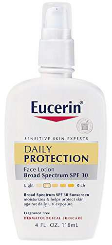 #6. Eucerin Daily Protection Moisturizing Face Lotion, Broad Spectrum SPF 30, 4 Ounce