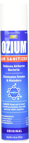 #7.Ozium Smoke & Odor Eliminator Air Sanitizer/ Freshener 3.5oz ORIGINAL