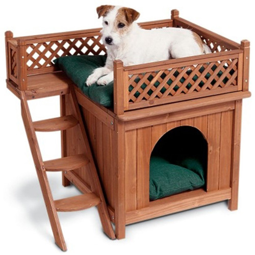 #3. Merry Pet MPS002 Wood Room with a View Pet House