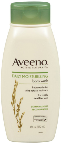 #5. Aveeno Active Naturals Daily Moisturizing Body Wash with Natural Oatmeal, 18 Ounce