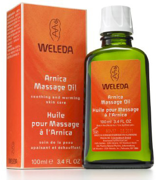 #4. Weleda Arnica Massage oil with a 3.4 ounce bottle