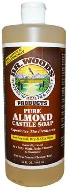 #10. Dr. Woods Pure Castile Soap, Almond, 32 Fluid Ounce