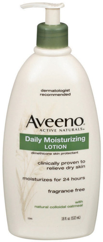 #3. Aveeno Active Naturals Daily Moisturizing Lotion, 18 Ounce