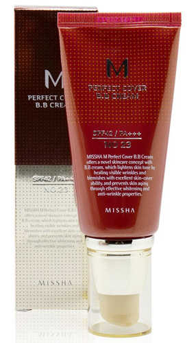 #2. MISSHA M Perfect Cover BB Cream No.23 Natural Beige SPF42 PA+++ (50ml)
