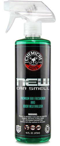 #3.Chemical Guys AIR 10116 New Car Smell Premium Air Freshener And Odor Eliminator-16oz