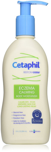 #2. Cetaphil Restoraderm Eczema Calming Body Moisturizer, 10-Fluid Ounces