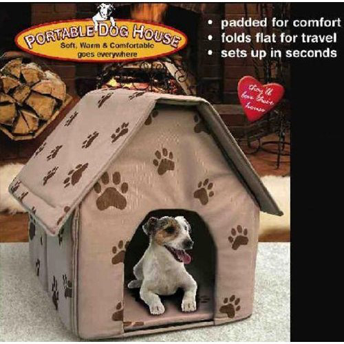 #5. PORTABLE DOG HOUSE - Soft, warm and comfortable and goes everywhere(Assorted colors-Tan/Blue/Red)